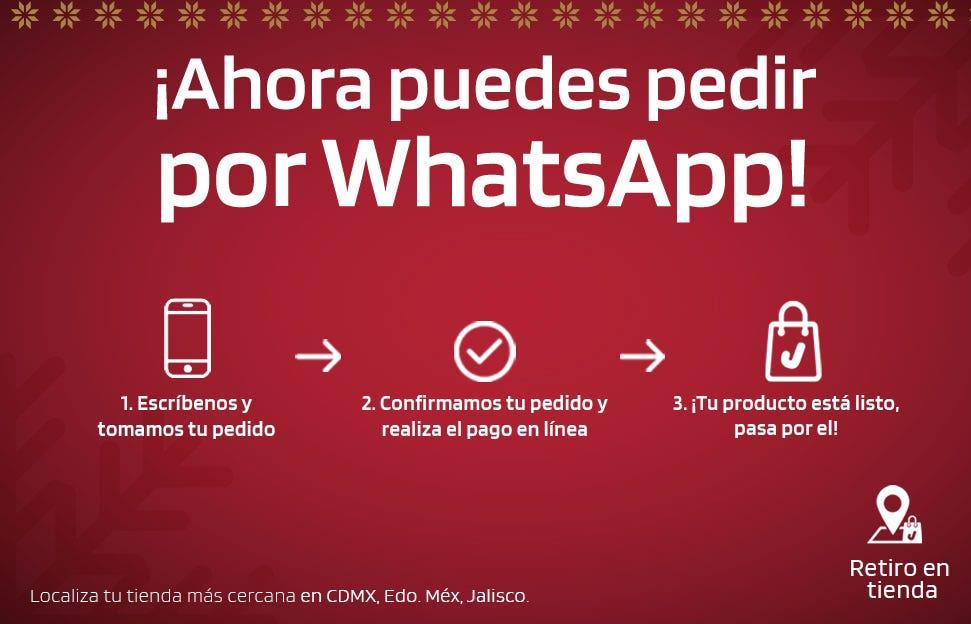 Localiza tu Tienda más cercana y haz tu pedido por WhatsApp