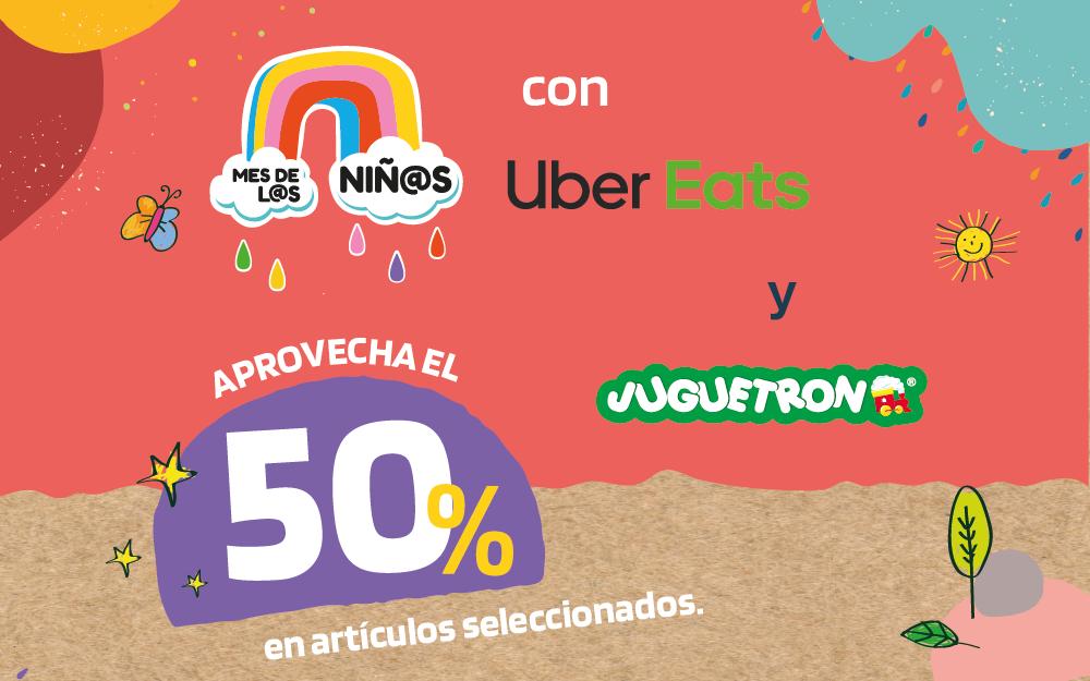 Términos y condiciones Campaña Día del Niño Uber Eats.