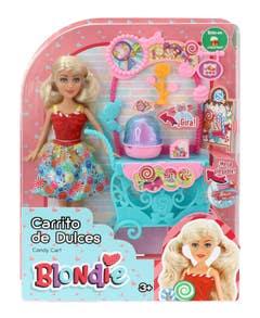 Muñeca Blondie 10205A Carrito De Dulces