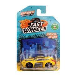 Fast Wheels Coche Basico Amarillo Deportivo