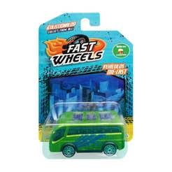 Fast Wheels Coche Basico Autobus Verde Con Azul