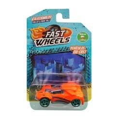 Fast Wheels Coche Basico Naranja Con Gris