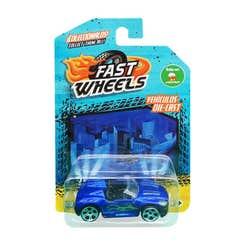 Fast Wheels Coche Basico Azul Metalico Con Verde