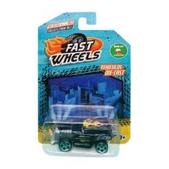 Fast Wheels Coche Basico Negro Con Llamas