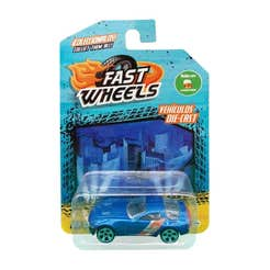 Fast Wheels Coche Basico Azul Con Naranja
