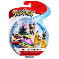 Figuras De Acción Pokemon 3 Pack Alolan Muk, Pikachu, Rockruff