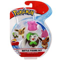 Figuras De Acción Pokemon 3 Pack Ditto, Eevee Y Drtrix