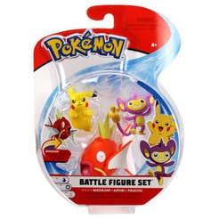 Figuras De Acción Pokemon 3 Pack Pikachu, Magikarp Y Aipom