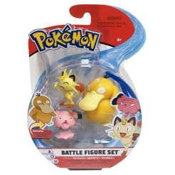 Figuras De Acción Pokemon 3 Pack Psyduck, Meowth Y Snubbull