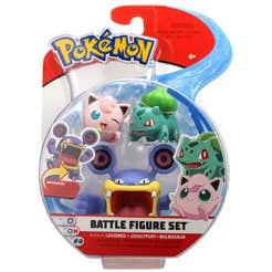Figuras De Acción Pokemon 3 Pack Jigglypuff, Bulbasaur Y Loudred