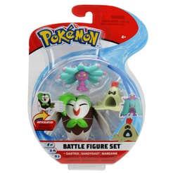 Figuras De Acción Pokemon 3 Pack Dartrix, Sandygast, Mareanie