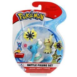 Figuras De Acción Pokemon 3 Pack Brionne, Mimikyu, Cosmoem