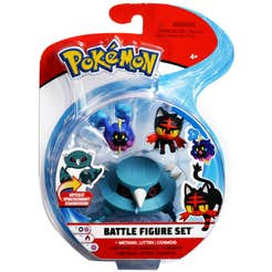 Figuras De Acción Pokemon 3 Pack Metang, Litten, Cosmog