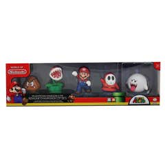 Figuras World Of Nintendo Super Mario: Mushroom Kingdom 5 Pack