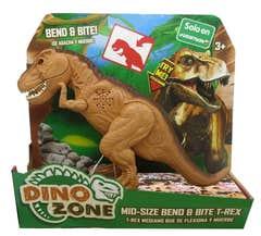 Dino Zone T-Rex Flexiona y Muerde Juguetron Café 80076
