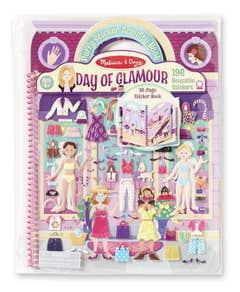 Melissa And Doug 19412 Libro De Pegatinas Acolchadas- Día De Glamour