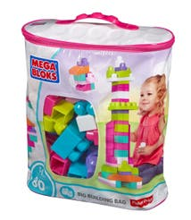 Mega Bloks® Bolsa Grande de Construcción Rosa