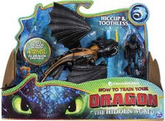 Figuras Dragón y Vikingo Como Entrenar A Tu Dragon Patón y Colmillo