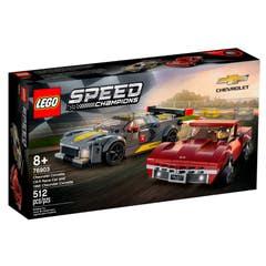 LEGO® Speed Champions 76903 Deportivo Chevrolet Corvette C8.R y Chevrolet Corvette de 1968