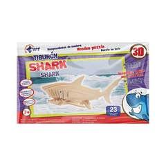 Rompecabezas De Madera 3D Grande Tiburon