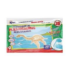 Rompecabezas De Madera 3D Grande Plesosaurios