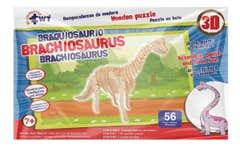 Rompecabezas De Madera 3D Grande Braquiosaurio
