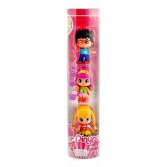 Tubo Famosa Pinypon 2 niñas y 1 niño 700011127