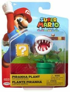 "Figura Nintendo 4"" Super Mario/World Of Nintendo Piranha Plant 95088"