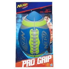 Nerf A0358 Nerf Sports - Balón de fútbol americano Pro Grip Color Verde Juguete Hasbro