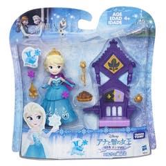Disney Princesas B5189 Mini Muñeca Elsa con Trono Frozen Disney Princesas  Juguete Hasbro
