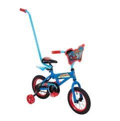 Bicicleta Cross Rodada 12 Con Baston, imagen Spiderman