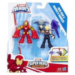 Figura Iron Man Y Marvel's Hawkeye Power Up Playskool Heroes  C0269