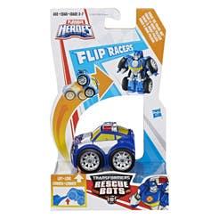 Chase El Robot Policía Flip Racers Playskool Hero  C1907