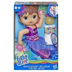 BABY ALIVE E3691 Mi Linda Sirenita Castaña