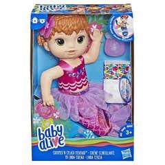 Baby Alive E4410 Bebé Mi Linda Sirena Baby Alive, Pelirroja Juguete Hasbro 1152E4410