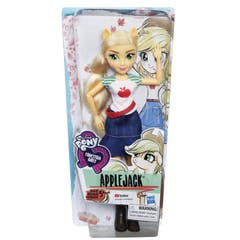 MY LITTLE PONY E0665 My Little Pony Equestria Girls Muñeca de Moda Clásica Applejack Juguete Hasbro
