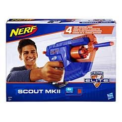 Nerf E0824 Lanzador Nerf N-Strike Elite Scout MKII