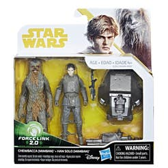 Figuras 2 Pack Han Solo & Chewbacca Mimban Star Wars