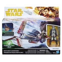 STAR WARS E1260 E1260 Force Link 2.0 Vehículos Clase A Figura de Enfy's Nest y moto Swoop