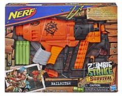 Nerf E2672 Lanzador Nailbiter Zombie Strike