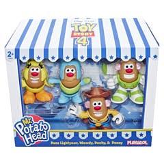 MPH E3065 Señor Cara de Papa Disney/Pixar Toy Story 4 Mini 4 Pack Buzz, Woody, Ducky y Bunny Juguete Hasbro
