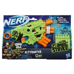 Nerf E6187 Nerf Lanzador Zombiestrike Alternator con 12 dardos Nerf