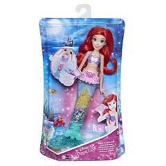 Disney Girls E6387 Disney Princesas Muñeca Ariel Brillo de Luz Juguete Hasbro