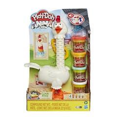 Play Doh E6647 Play-Doh Animal Crew Cluck-a-Dee Plumas divertidas