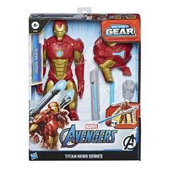 Marvel E7380 Marvel Avengers Titan Hero Series Blast Gear Figura de 12 pulgadas Iron Man Juguete Hasbro