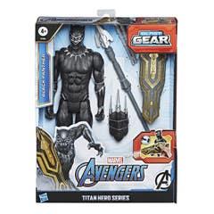 Marvel E7388 Marvel Avengers Titan Hero Series Blast Gear Figura de 12 pulgadas Black Panther Juguete Hasbro
