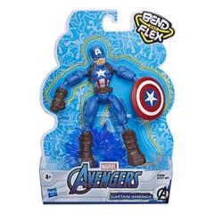 Marvel Avengers Bend And Flex Figura de Acción de 6 Pulgadas – Capitán América