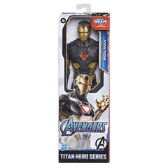 Marvel E7878 Marvel Avengers Titan Hero Series Blast Gear Figura de 12 pulgadas Iron Man Dorado Juguete Hasbro