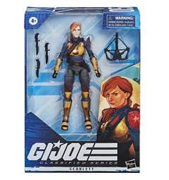 G.I. Joe Classified Series - Figura Premium Scarlett 05 con múltiples Accesorios y empaque con Arte Distintivo - 15 cm