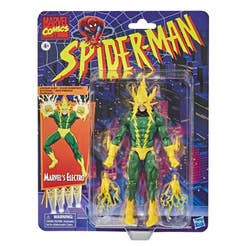 Hasbro Marvel Legends Series Spider-Man - Figura coleccionable de Electro de 15 cm - Colección Retro